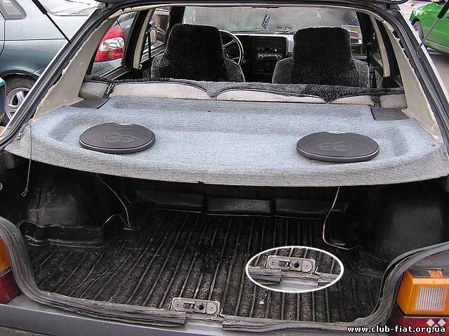 кнопка замка двери багажника фиат уно